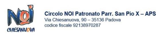 Informativa Privacy Circolo NOI - Patronato S.Pio X